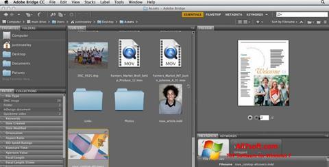 Screenshot Adobe Bridge for Windows 7