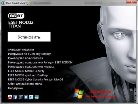 Screenshot ESET NOD32 Titan for Windows 7