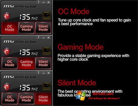 Screenshot MSI Gaming App for Windows 7