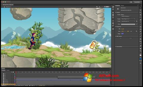 Screenshot Adobe Flash Professional for Windows 7