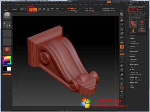 Screenshot ZBrush for Windows 7