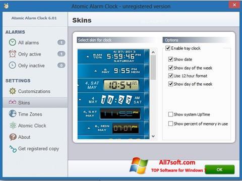 Screenshot Atomic Alarm Clock for Windows 7