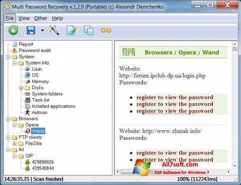 Screenshot Multi Password Recovery for Windows 7