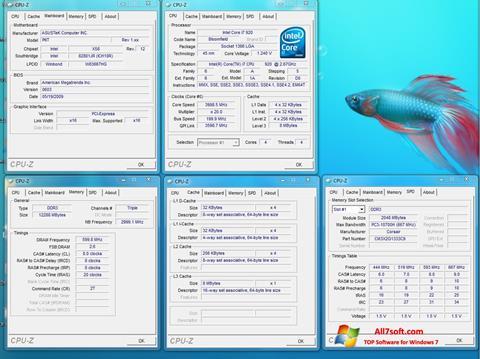 Screenshot CPU-Z for Windows 7