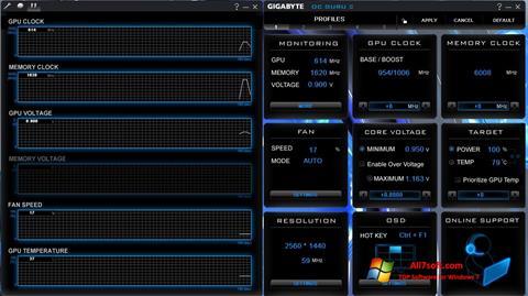 Screenshot GIGABYTE OC Guru for Windows 7