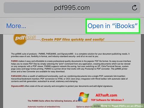 Screenshot Pdf995 for Windows 7