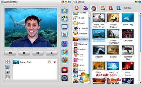 Screenshot WebcamMax for Windows 7