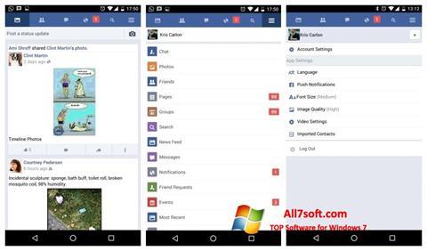 Screenshot Facebook for Windows 7