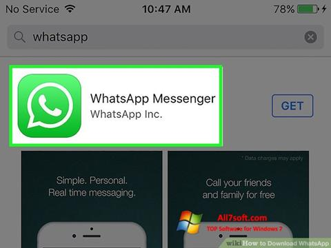 Screenshot WhatsApp for Windows 7