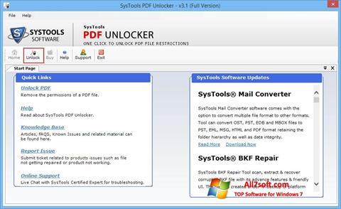 Screenshot PDF Unlocker for Windows 7