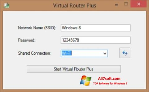 Screenshot Virtual Router Plus for Windows 7