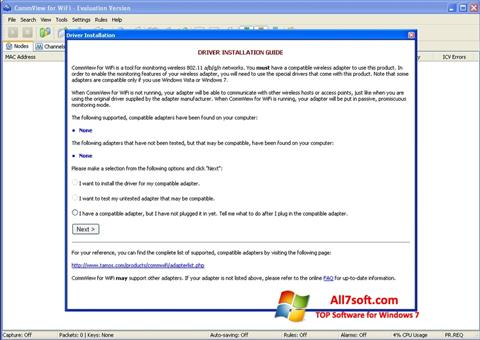 Screenshot CommView for WiFi for Windows 7