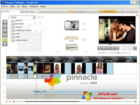 Screenshot Pinnacle VideoSpin for Windows 7