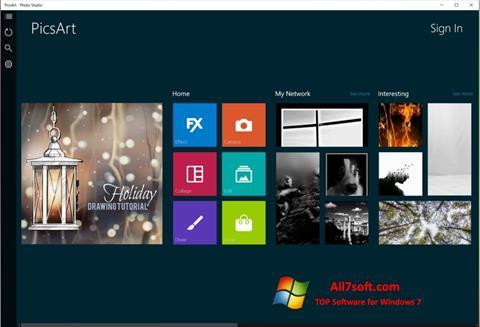 Screenshot PicsArt for Windows 7