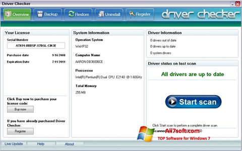 Screenshot Driver Checker for Windows 7