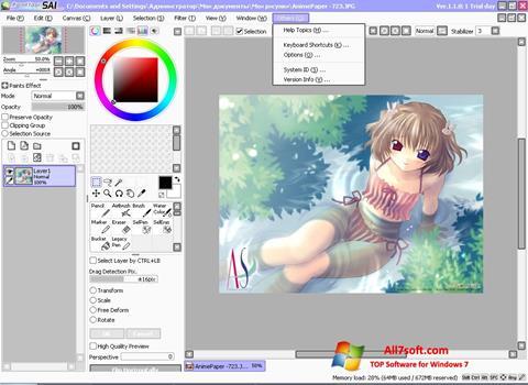 Screenshot Paint Tool SAI for Windows 7