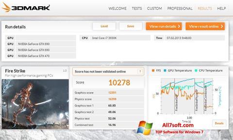 Screenshot 3DMark for Windows 7