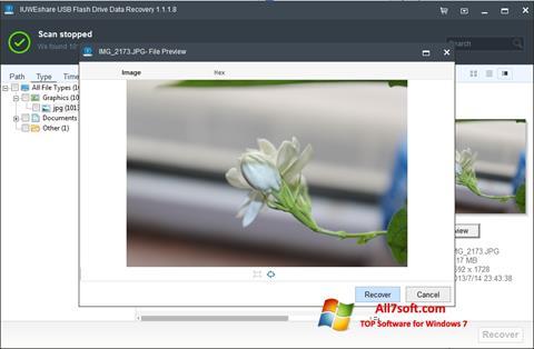 Screenshot USB Flash Drive Recovery for Windows 7