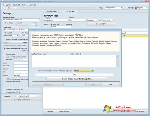 Screenshot Scan2PDF for Windows 7