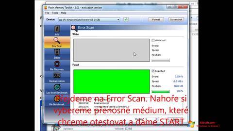 Screenshot Flash Memory Toolkit for Windows 7