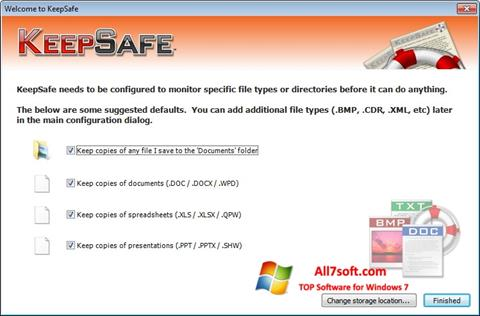 Screenshot KeepSafe for Windows 7