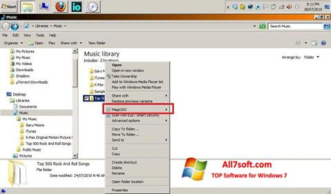 Screenshot MagicISO for Windows 7