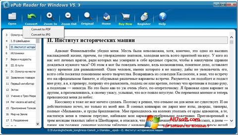 Screenshot Epub Reader for Windows 7