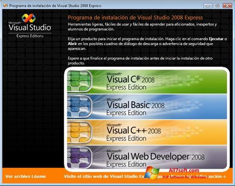 Screenshot Microsoft Visual Studio for Windows 7