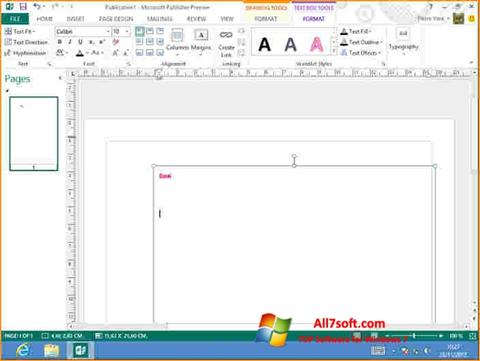 Screenshot Microsoft Publisher for Windows 7