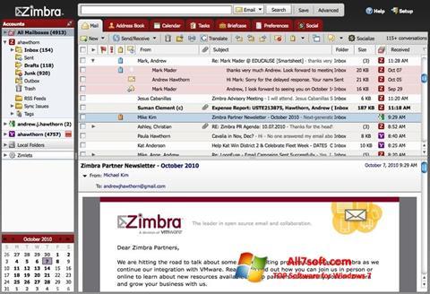 Screenshot Zimbra Desktop for Windows 7