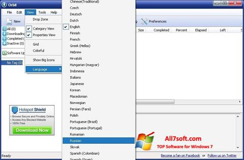Screenshot Orbit Downloader for Windows 7