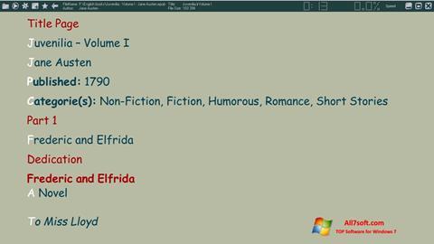 Screenshot ICE Book Reader for Windows 7