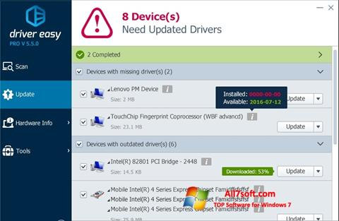 Screenshot Driver Easy for Windows 7