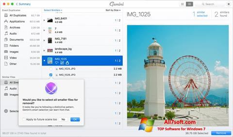 Screenshot Gemini for Windows 7