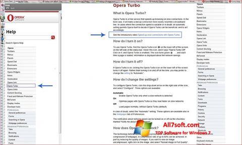 Screenshot Opera Turbo for Windows 7