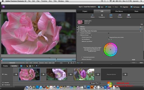 Screenshot Adobe Premiere Elements for Windows 7