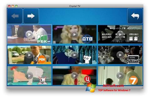 Screenshot Crystal TV for Windows 7