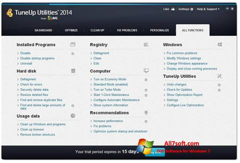 Screenshot TuneUp Utilities for Windows 7