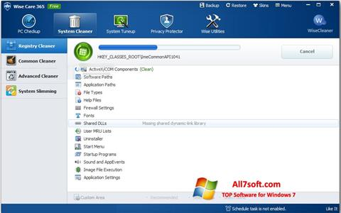 Screenshot Wise Care 365 for Windows 7