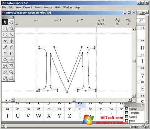 Screenshot Fontographer for Windows 7