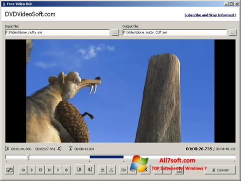 Screenshot Free Video Dub for Windows 7