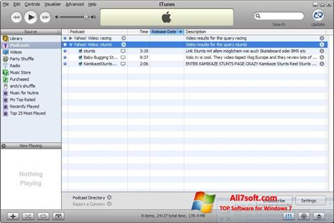Screenshot iTunes for Windows 7