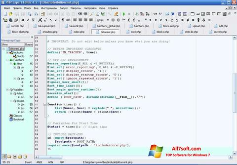 Screenshot PHP Expert Editor for Windows 7
