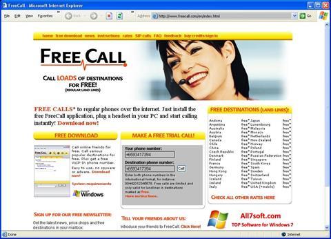 Screenshot FreeCall for Windows 7