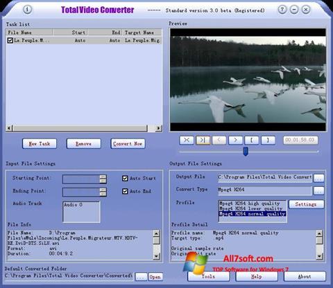 Screenshot Total Video Converter for Windows 7
