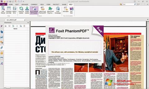 Screenshot Foxit Phantom for Windows 7