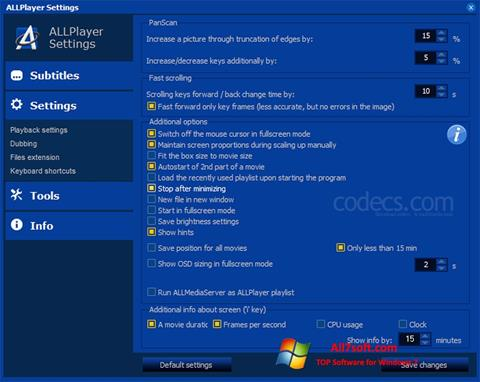 Screenshot ALLPlayer for Windows 7