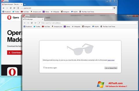 Screenshot Opera Next for Windows 7