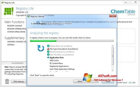 Screenshot Registry Life for Windows 7