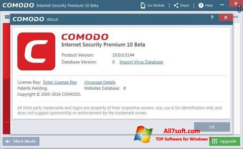 Screenshot Comodo for Windows 7